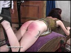 Angry words over her spanking