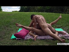 Hot threesome group sex with two superhot chick...