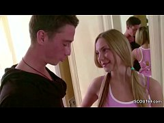 He Seduce His Petite Step-Sister to Fuck and Cu...