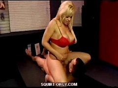 Blonde Babe Squirt Train