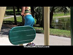 TheRealWorkout - Busty Crystal Fucked After Her Workout