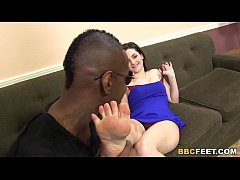 Tegan Mohr Uses Her Feet To Jerks Off BBC