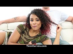 TeenCurves - Curvy Hottie Seduces BF With Ass