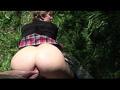 Step siblings try anal sex in the forest (reloaded)