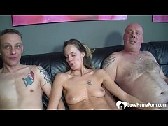 Horny Couple Always Wanted To Try A Threesome So They Invited A Friend To Fuck