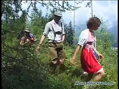 german teens first extreme rough outdoor double penetration