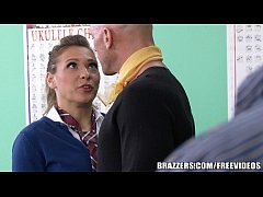 Brazzers - Sexy School girl Callie Calypso takes it up the ass