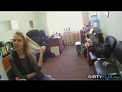 Dirty Flix - This teen slut does her first adult job