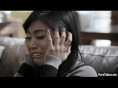 Small mad Asian girl smashed by a BFs brother