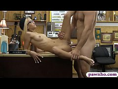 Tight blondie gives head and nailed by pawnshop...