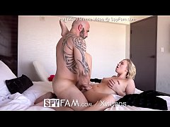 SPYFAM Step dad blows HUGE load into soaked pussy