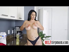 Busty milf fucks her stepson and his gf