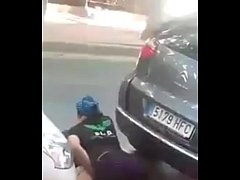 Whore fucked on street