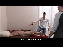 Hot Jock Stepbrother And His Twink Stepbrother Mess With Dad While He's Napping