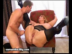 Huge Tit MILF BBW Samantha 38G Fucks Stud Model