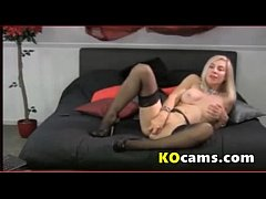 Blonde mature harder dildo