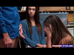 Sweet teen pair Charity Crawford and Zoey Lane taste justice and dick