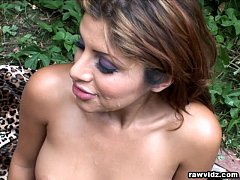 Sativa Rose Vicious bitch loves fucking outdoors