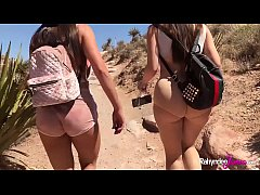 Outdoor Public Lesbian Fucking Rahyndee James and Lana Rhoades