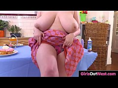 Busty curvy girl Lila gets messy and masturbates