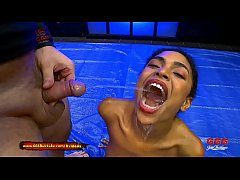 Gorgeous ebony babe Luna gets in the pissing game and she loves it! 666Bukkake