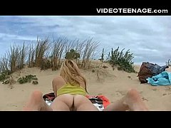 teen nude at beach