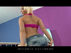 HOT big-booty blond Bibi Noel fingers her pussy and ass to orgasm