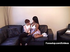 Ebony Quebec Born Jenna Foxx & Red head Lily Cade do more than just tell each other their secrets! Things get naughty & both girls dive into each other's wet horny twats for some lesbian interracial action!