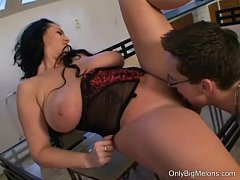 Busty Reny is hungry for cock