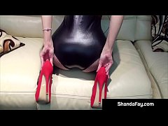 Busty MILF Hotwife Shanda Fay Fucked In Red High Heels!