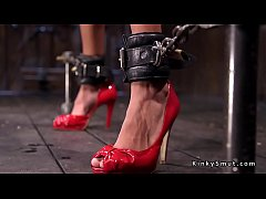 New pain slut tormented in dungeon