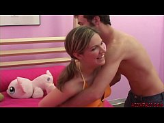 First time anal for Renee giving her ass to James Deen in casting video