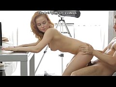 Red hot girl Janna possesses passionate mouth and nub