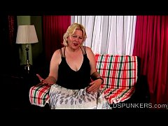 Beautiful busty old spunker thinks of you as sh...