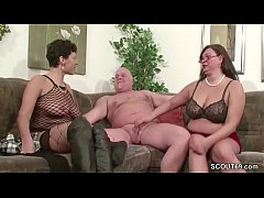 German MILF and Mature fuck with old man in Thr...