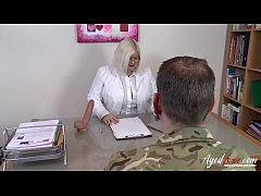 Hardcore mature lady and horny soldier guy sex