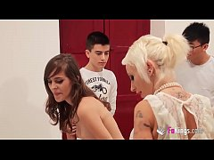 Jordi, Ainara and their Asian friend learns a nice lesson about school dicks and pussies from Gina Snake