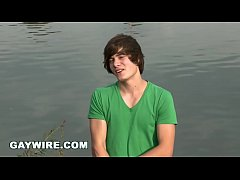 GAYWIRE - Anal Sex by The Lake OUT IN PUBLIC with Virgin Euro Hunk Named Justin