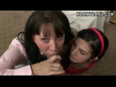 Mature Rayveness and teen girl Zoe Kush fucking with a fat cock