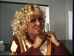 Curly student Candy Apples caught the coach in the locker room and gave her ass to the mercy
