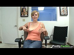 Short hair blonde facial video Tracy Lee 1 2.1