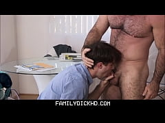 Young Schoolboy Stepson Fucked By Horny Bear Stepdad Instead Of Going To School