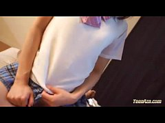 Schoolgirl Riding On Guy Cock Fucked Hard Cum To Mouth On The Mattress In The Ro
