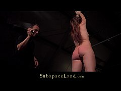 Ruthless stimulation for slave hairy pussy rest...