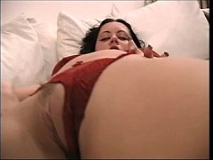 Hot brunette with nice tits fucked by her cousin