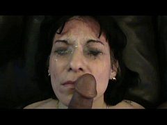 Escort hooker face fucked and pissed on
