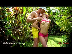 FIT COLLEGE TEEN GETS ASS TO THROAT FUCKED OUTDOOR. MIA BANDINI