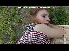 Extra-deep blowjob in the grass