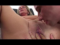 Elderly Blonde Lady Pussy And Anal Fucked By Yo...