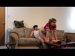 stepdad fucks stepdaughter while watching sports (preview)